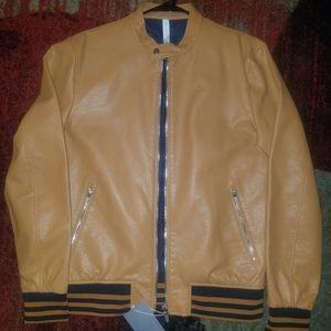 Zara Mens Fashion Leather Jacket Size L